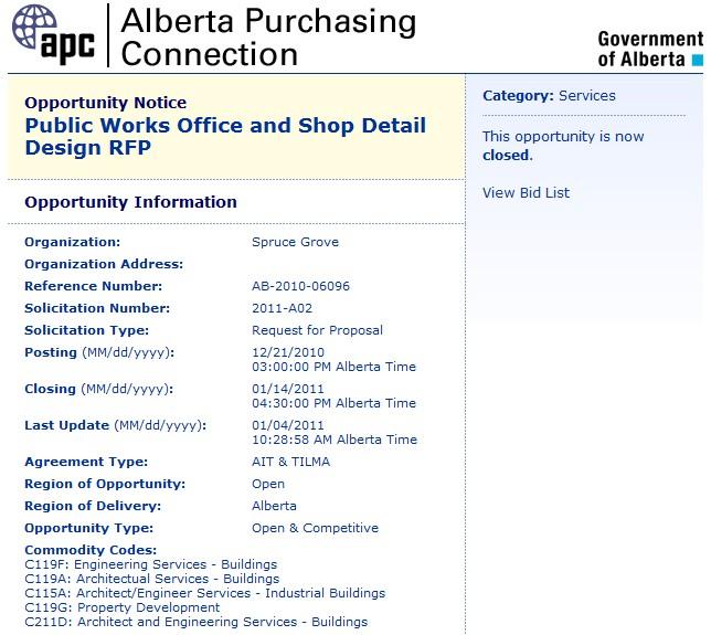 Alberta Purchasing Connection Vendor User Manual